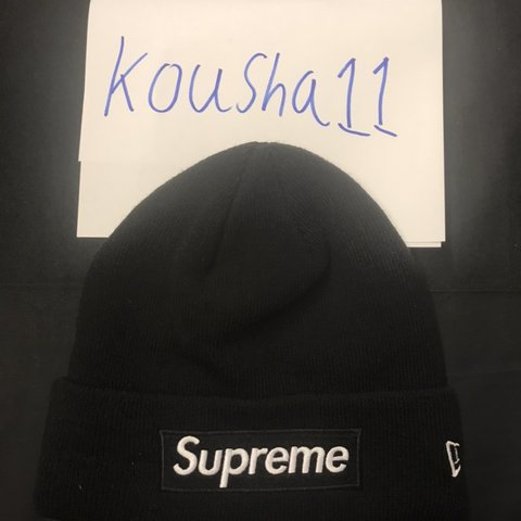 593cf13081a55 Supreme bogo beanie black on black Brand new without tags to - Depop