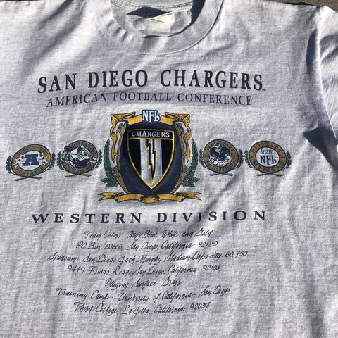 Vintage San Diego Chargers shirt size large by Nutmeg. Good - Depop b231c3b07