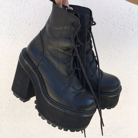 0df59b1cb34ee Preloved UNIF CHOKE BOOTS! They were my go-to boots for 3 to - Depop
