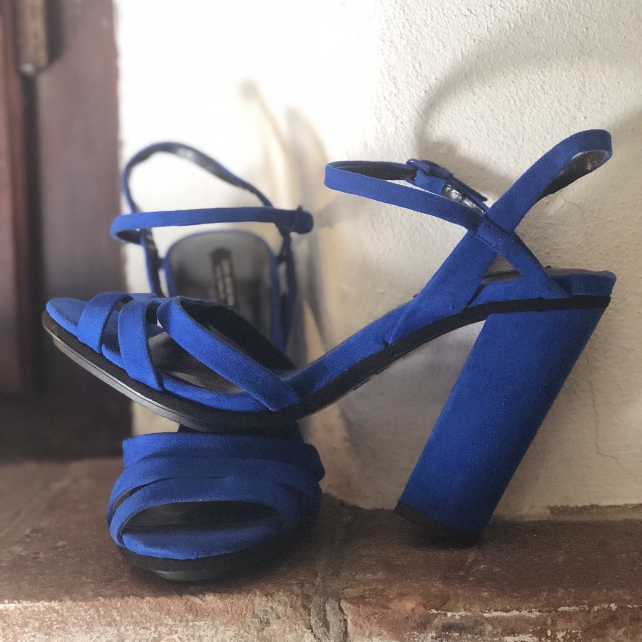 2f3137c9251  lohvee. 8 months ago. Italy. Zara electric blue suede high heeled sandals  ...