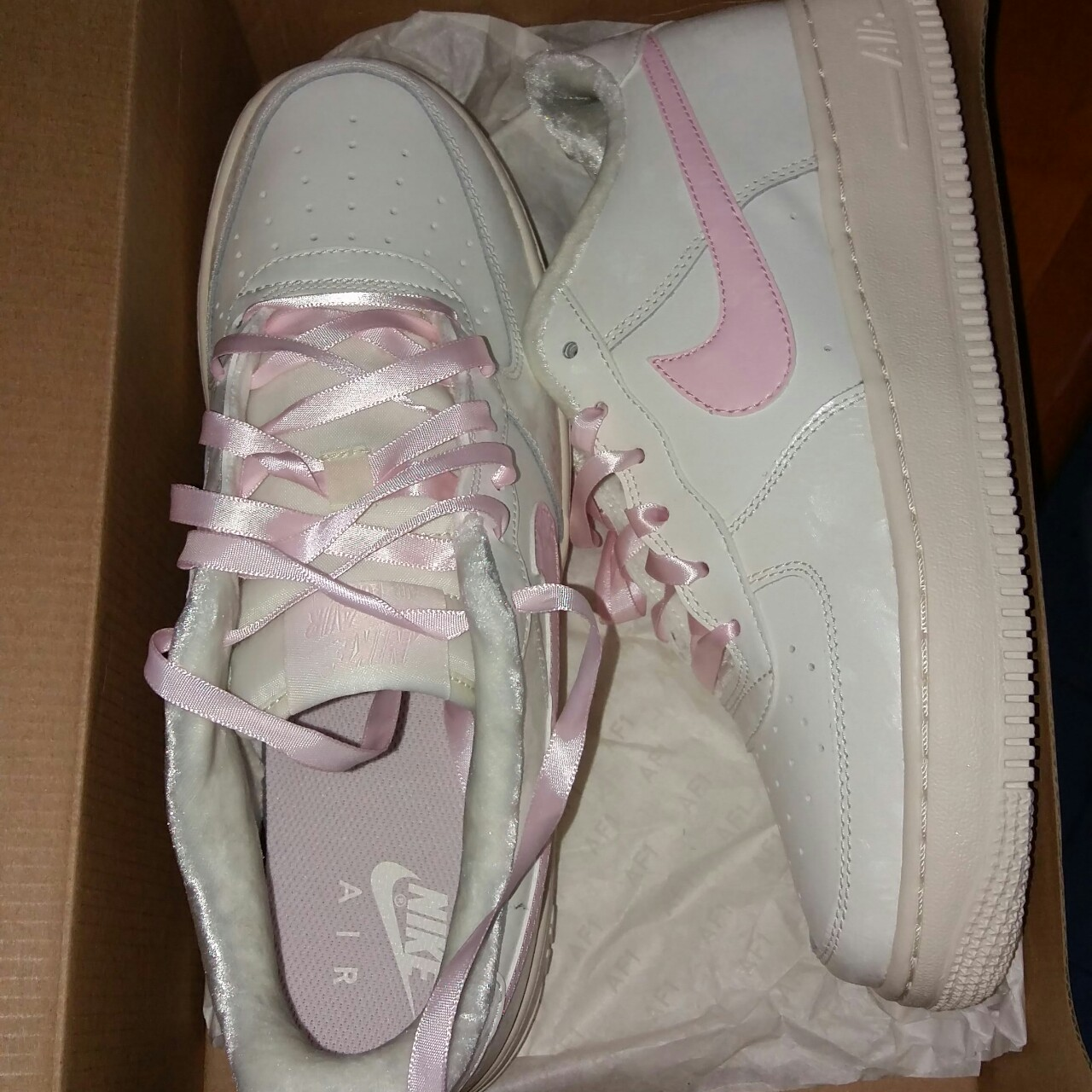 air force 1 nike bianche e rosa