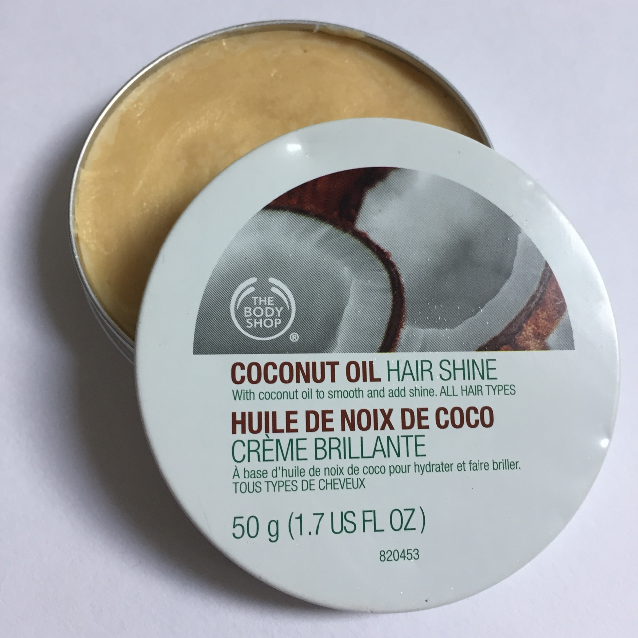Body shop coconut oil hair shine for all hair types    - Depop