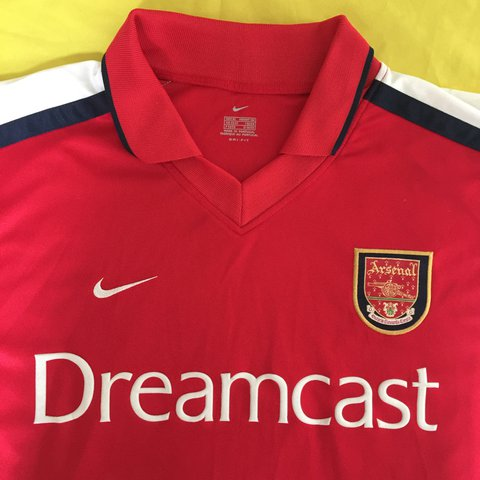 064587e8ae8 Arsenal 2000 02 Home Shirt Nike Dreamcast 100% - - XL Pit - Depop