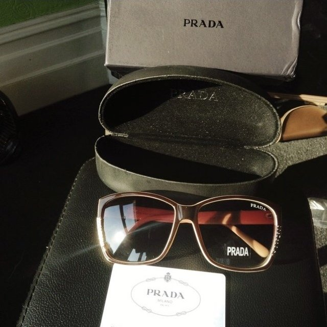 2a9856504ee LAST PAIR OF PRADA DESIGNER SUNGLASSES! CLEARANCE SALE! IN   - Depop