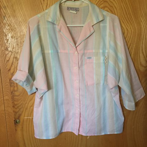 a0bd19702129 80 s!! Miami vice! Pastel Style button up. I love this pair - Depop