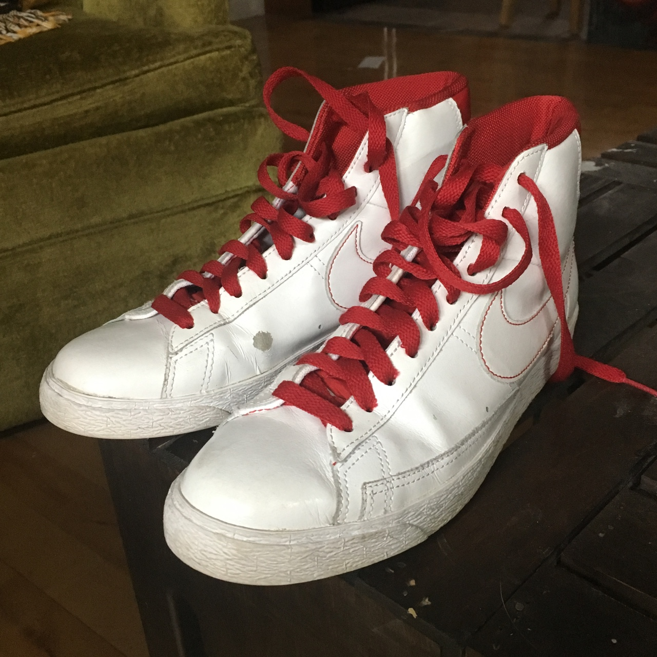 super popular 8d5e2 cb845 Nike Blazer SP High Tops, red/white These shoes are... - Depop