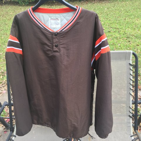 54e0f6e1b870 @jaisiri. last year. Houston, United States. Vintage Cleveland Browns  DeLong Jacket. Great condition. No flaws