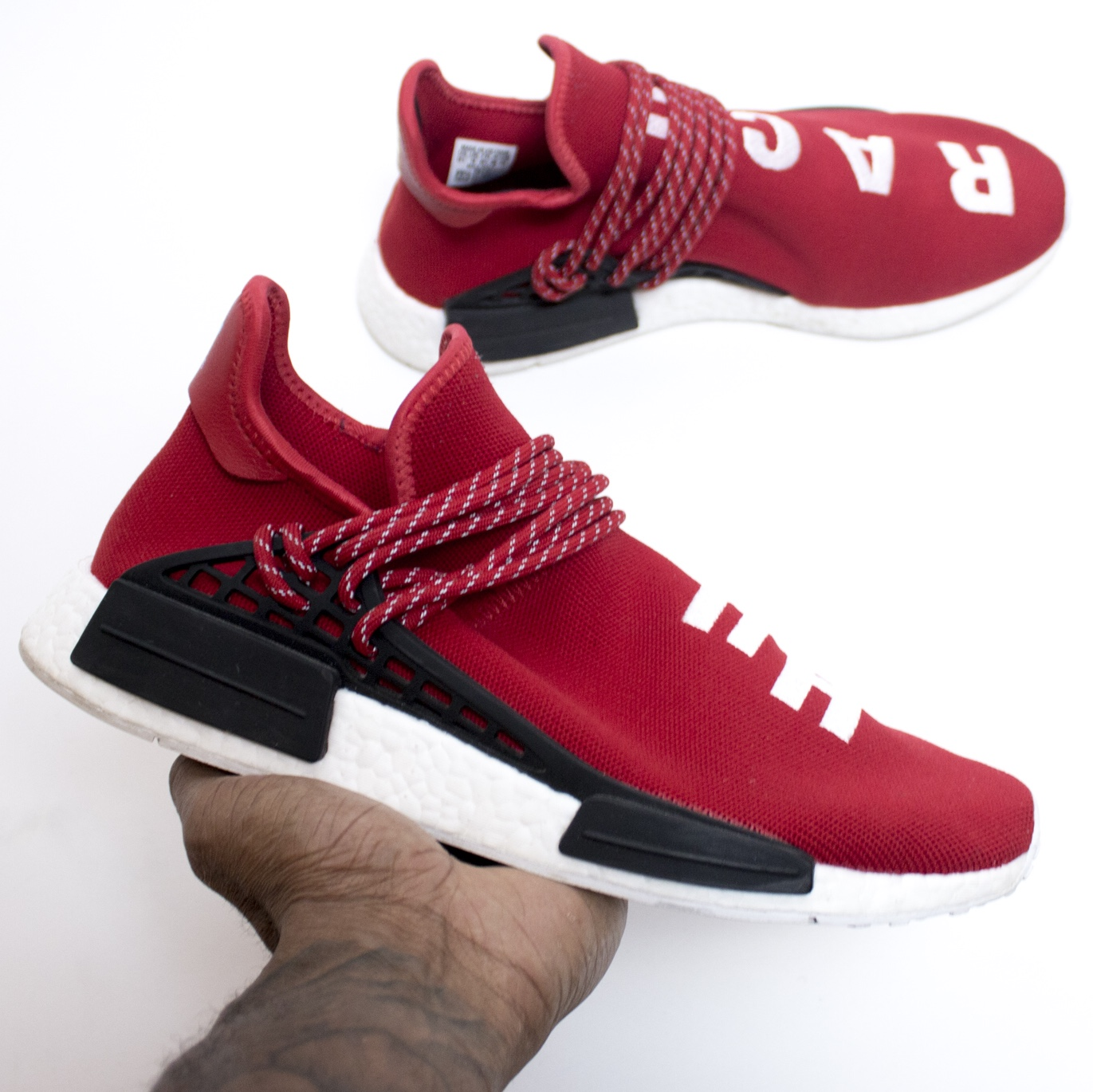 designer fashion 60d3c 4ddf4 Adidas Pharrell NMD human race RED UK10 condition ...