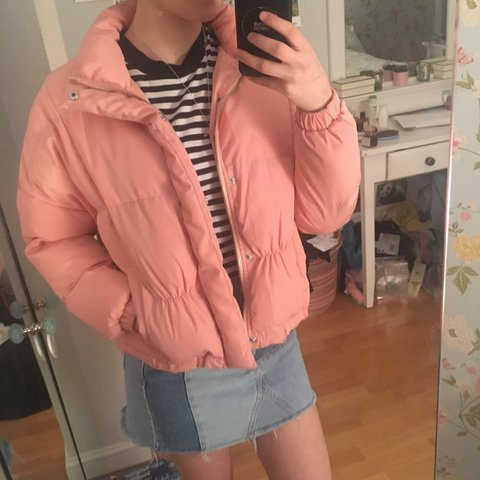 UNIF X URBAN OUTFITTERS pink puffer jacket. Size XS fits n - Depop 1d763602c