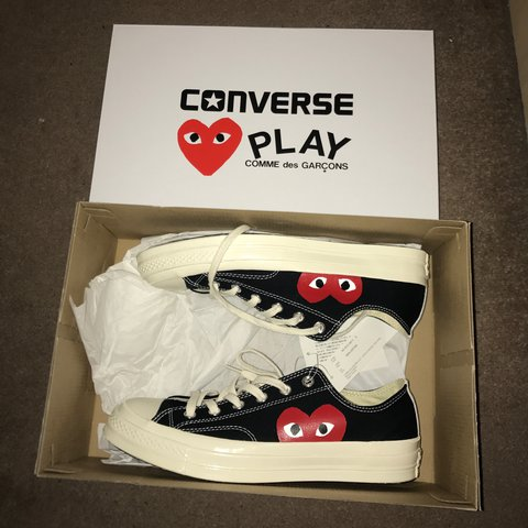 99dc8daa2374 Converse x Comme Des Garcons Play (CDG) Brand New With Box   - Depop