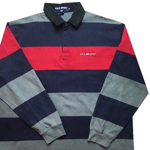 5cf3322d @billysretro. 2 months ago. Keighley, United Kingdom. Brand: Polo Sport  Ralph Lauren Item: Stripes Rugby Shirt ...