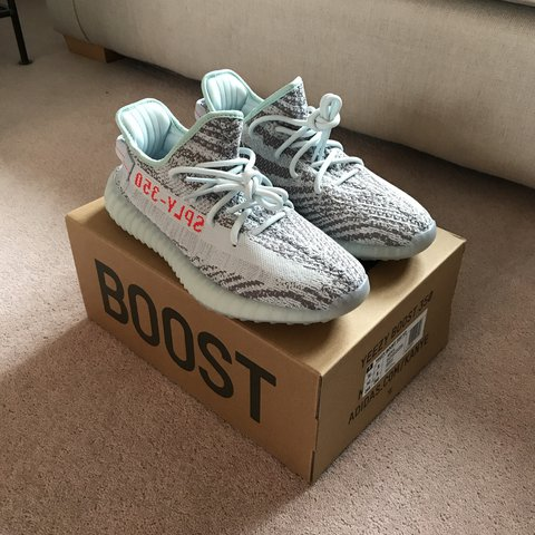 839e1b6ce6539 Adidas Yeezy Boost 350 V2 Blue Tint UK8 Two pairs for sale a - Depop