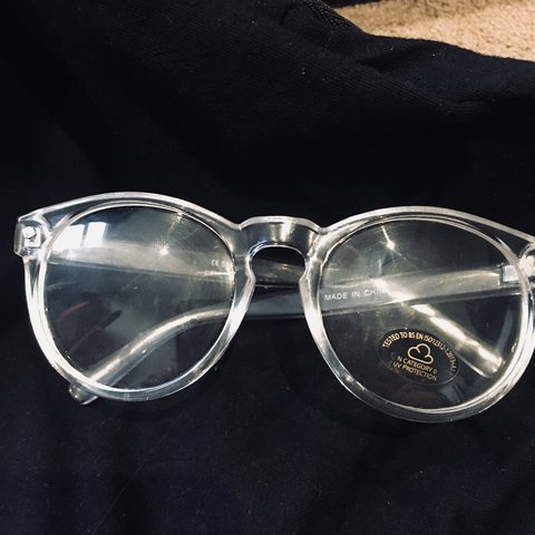 8fbb8075d6a Clear framed vintage non prescription glasses. Not used