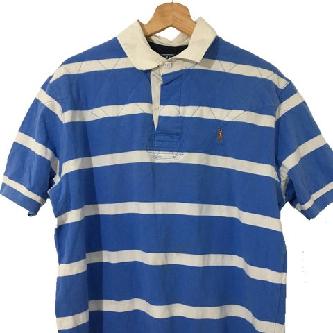 38d87a7a7f1 @jonleech. in 11 hours. London, United Kingdom. Light blue and white POLO  RALPH LAUREN Rugby Polo Shirt ...