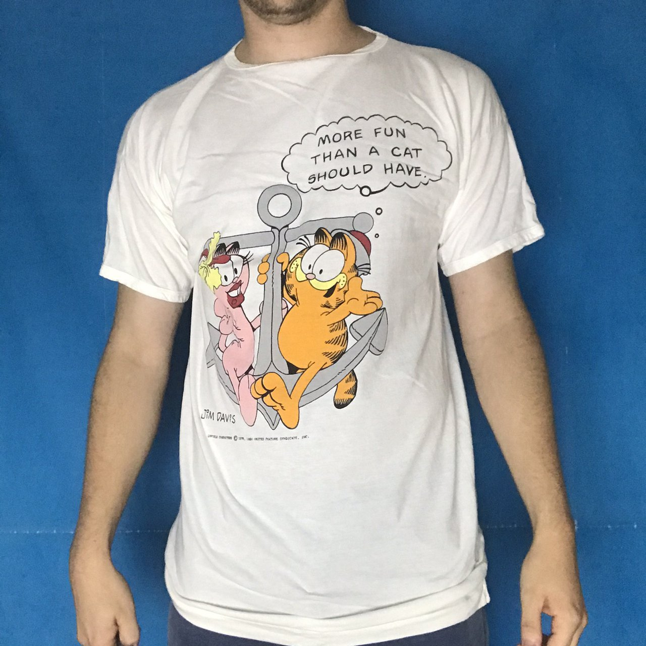 Vintage 70s Garfield T Shirt With Graphic Print And Depop