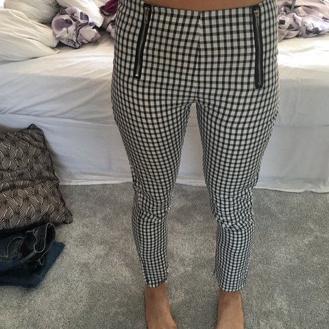 e3b7360d8f0df Checkered / checked/ dog tooth trousers! Long leg, light for - Depop