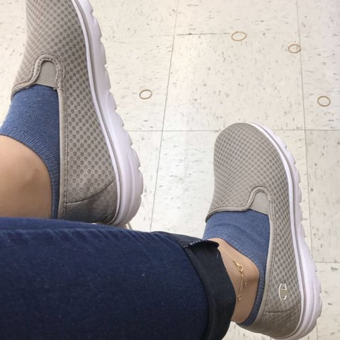 5c41f3198bf3 SUPER CUTE AND COMFORTABLE CHAMPION SHOES IN NUDE These are - Depop