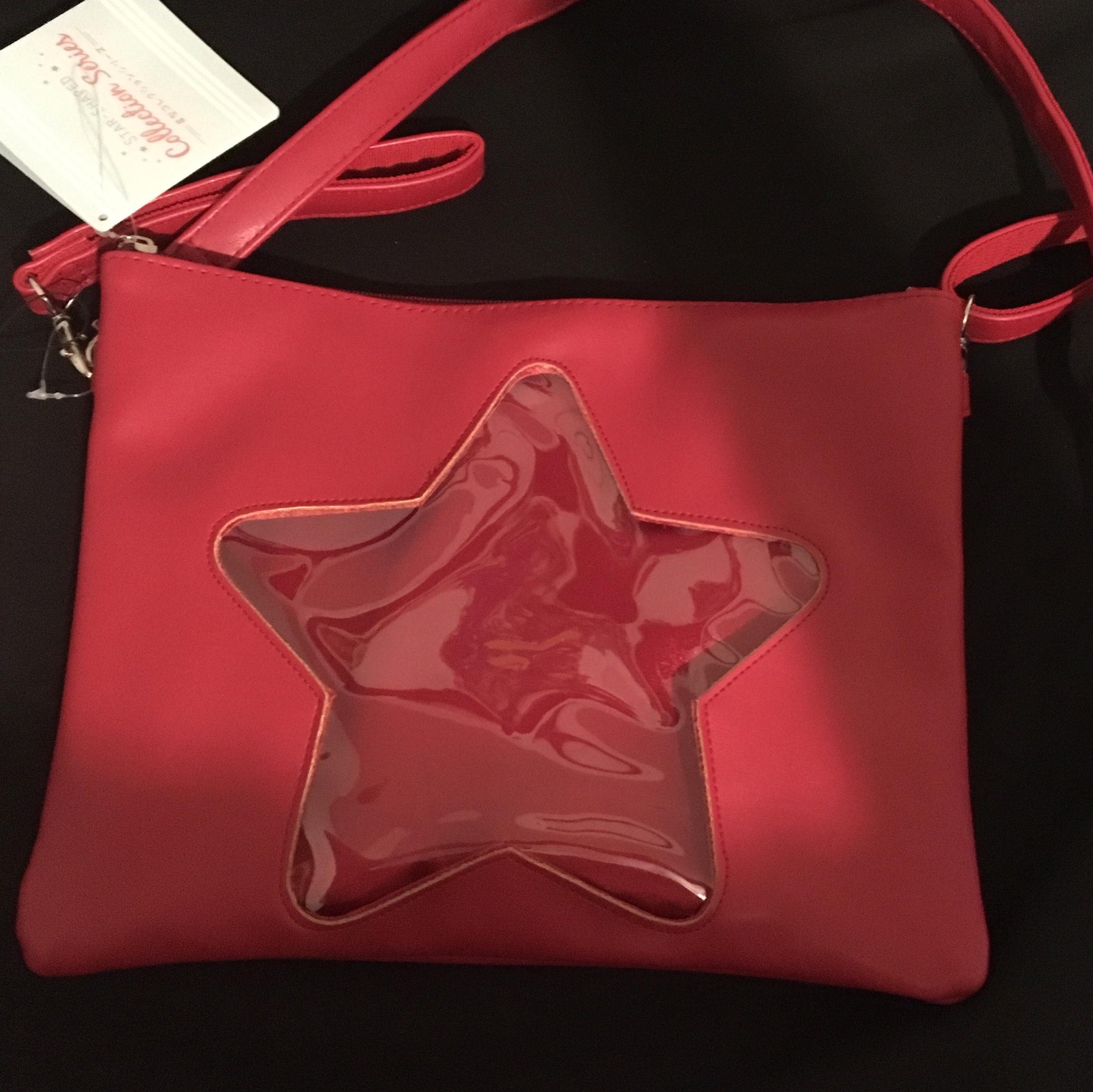 red star window itabag  tags: itabag red star    - Depop