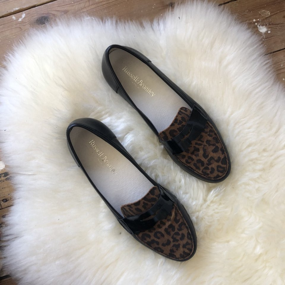 Russell \u0026 Bromley leopard print loafers