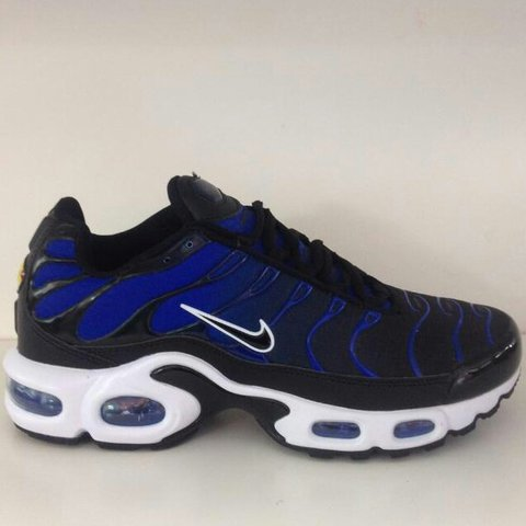 online store 1019c cc381 NIKE TN (AIR MAX PLUS) BLACK AND BLUE. £110 MESSAGE ME. new - Depop