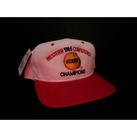 9d5957b3aaf5d7 @the_vintagespot. 11 days ago. Houston, United States. NWT Vintage Houston  Rockets 1995 Western Conference Champions Snapback Hat Brand new with tags