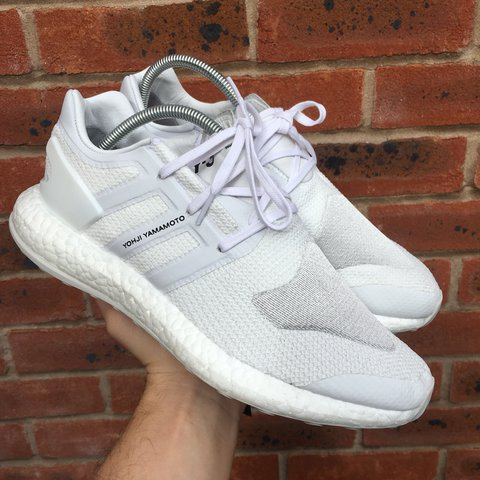 1641a1661865a Mens Adidas Y3 Triple white Pureboost trainers. Brand new In - Depop