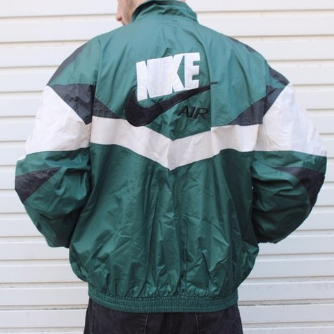 f1217dbc7 @locals. 8 months ago. Huddersfield, United Kingdom. NIKE WINDBREAKER  Forest green/white/black zip up windbreaker jacket ...