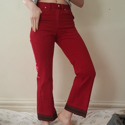 e46965ef @dinngbat. last year. Walla Walla, Walla Walla County, United States. Vintage  Wrangler red boot cut and high waist pants with some ...