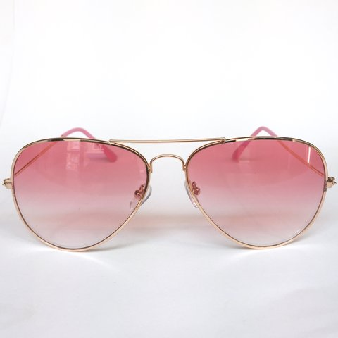 3df6e78de5 Rose tinted lens aviator sunglasses. UV400. Free shipping - Depop