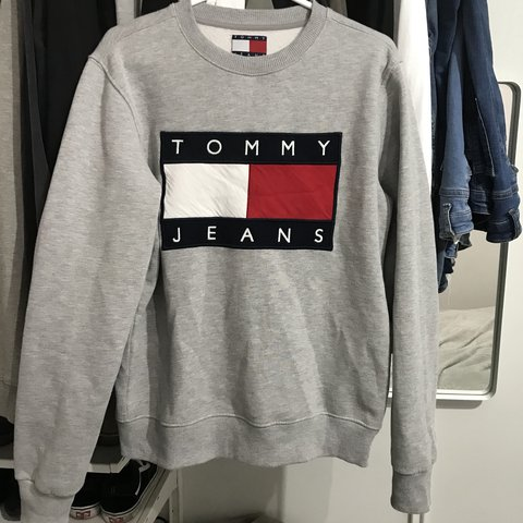 4eb8fa9615cc Men s unisex Tommy Hilfiger - tommy jeans jumper in a small - Depop
