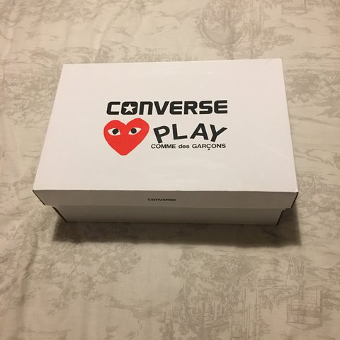 2118219f57f GENUINE CDG Play converse in a size 5. Still come with box a - Depop