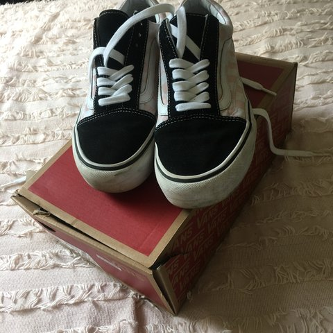 d15028e45c  megaaaanm. 8 months ago. United Kingdom. CHECKERBOARD PINK PLATFORM OLD  SKOOL VANS in a size ...