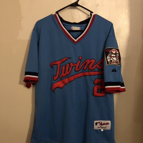 2dea558a9 @brady4445. 3 months ago. West Chester, United States. Twins retro jersey  size 44 authentic fit