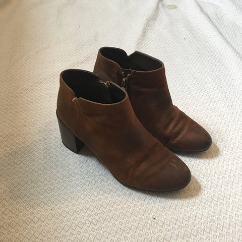 21d5b10004e1 Franco Sarto brown suede heeled boots. A Little loved but - Depop