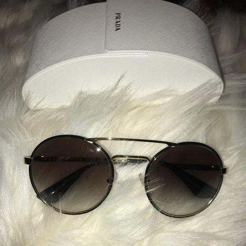 404de63d00489 ... official store brand new prada sunglasses bug eye depop ce0b5 8cd5e
