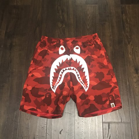 0239dc5a66 Bape swim shorts. Red. Size M. Used once. 9/10 supreme Can a - Depop