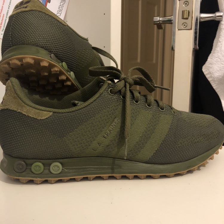 - Men's Weave Adidas L.A trainer , - Khaki Green with...