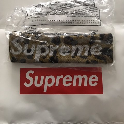 d4d7940897e Supreme x New Era Big Logo Headband Leopard Hyped item! do - Depop