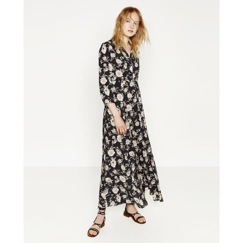 31846a791b5 Beautiful Zara floral shirt maxi dress. Could be worn or for - Depop
