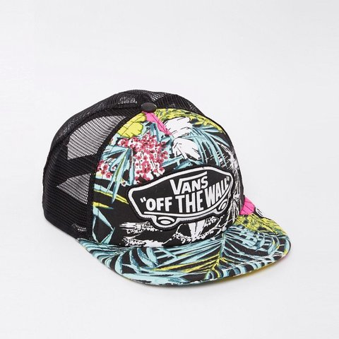 f075dca45a9eb @noodles42. 3 years ago. Belfast, United Kingdom. Vans trucker hat (SnapBack)  in Hawaiian tropical floral print with mesh ...
