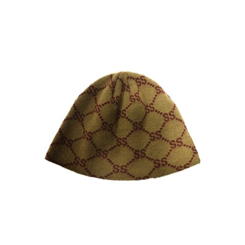 dd608d88c44a7 Stussy monogram beanie  stussy From late 90s   early gucci - Depop