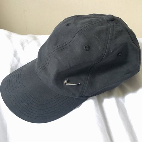 8dce14c3f5fb8 ... uk faded black dark grey nike cap 9 10 condition with metallic depop  f3b71 d01b5