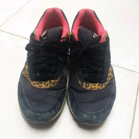 1134b92248 Limited edition black, pink and leopard print nike air max 1 - Depop