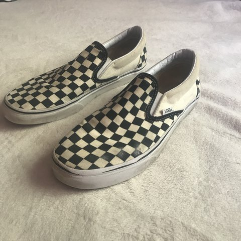 Off-White checkered Vans Size 8 in Mens and a size 9.5 in up - Depop 23b56be39