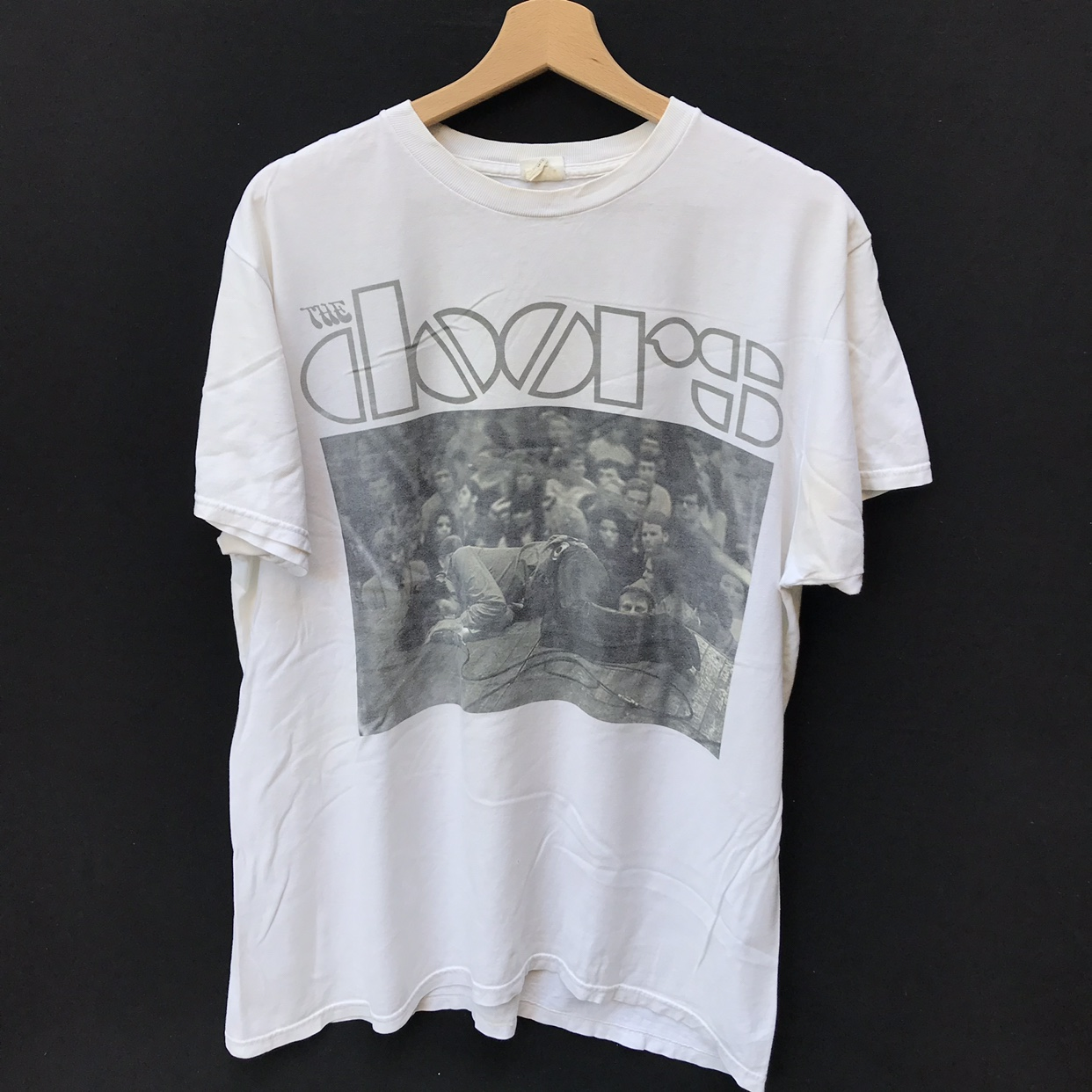 Early 2000s doors shirt has some flaws shown due to    - Depop