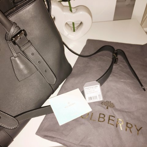 7ece74abca7  jessymag. 2 years ago. Thurnby, United Kingdom. Mulberry handbag 👜 grey  double zip Bayswater just over ...