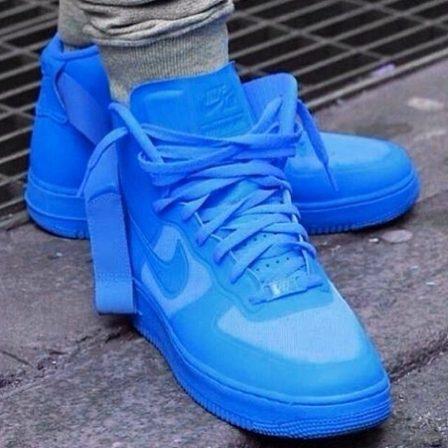 a50672f94e6c ... low cost nike air force 1 high hyperfuse glow blue worn one time like  depop 6b161