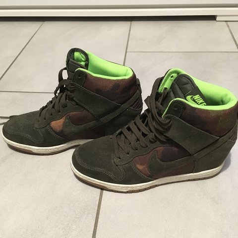 the latest 3ccce 14551 Nike Dunk Sky High verde- 0