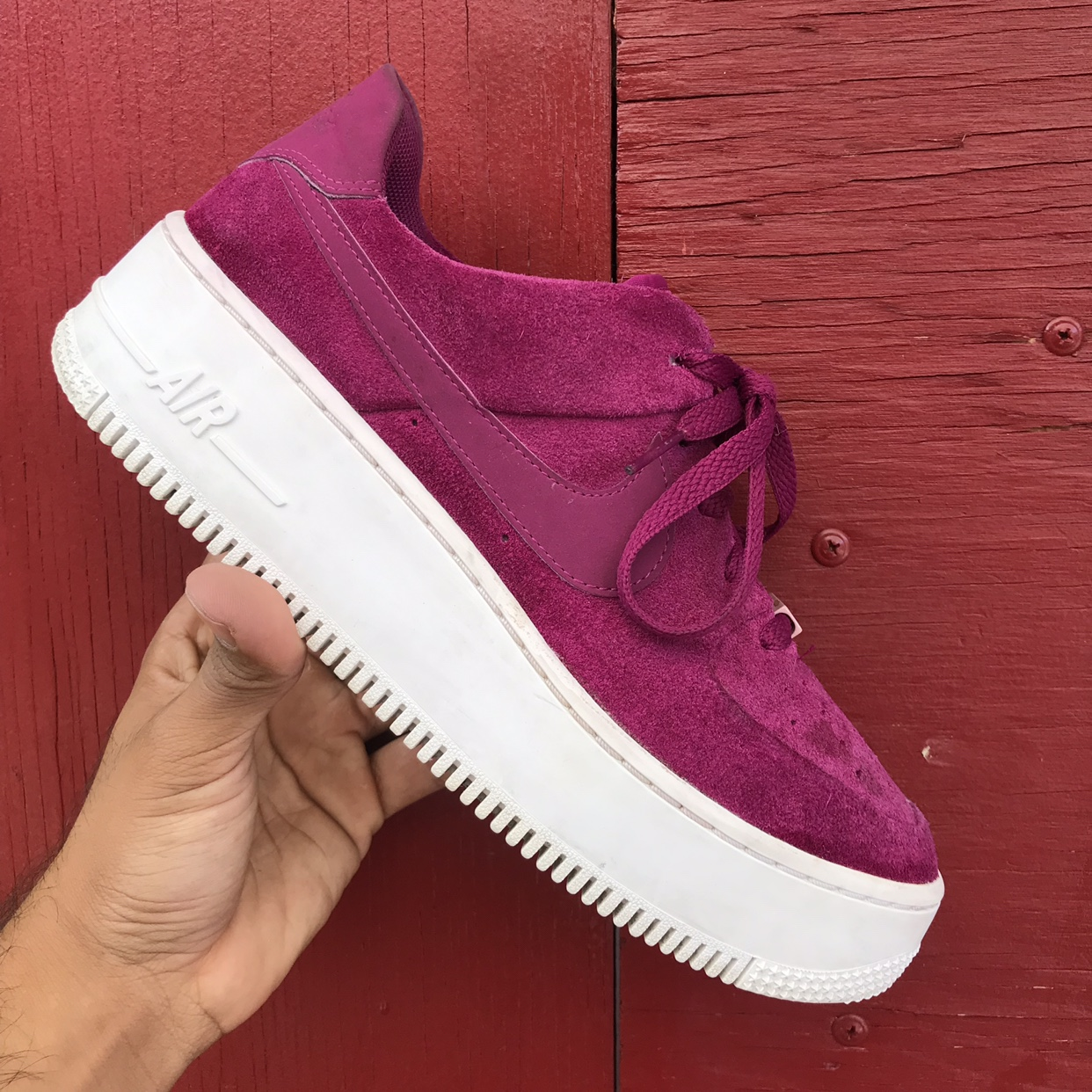 Nike Air Force 1 Sage Low True berry Size 8.5 for Depop