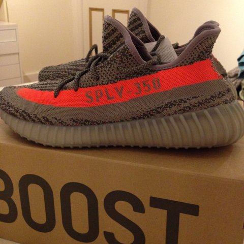 13630f58f 100% Authentic Yeezy Boost 350 V2 Beluga   Steel Grey   Red - Depop